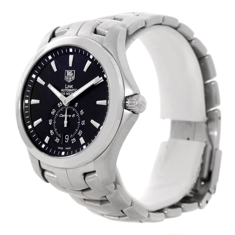 TAG Heuer Link Steel Black Dial Automatic Mens Watch WJF211A SwissWatchExpo