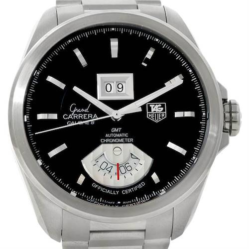 Photo of Tag Heuer Grand Carrera Automatic GMT Chrono Mens Watch WAV5111