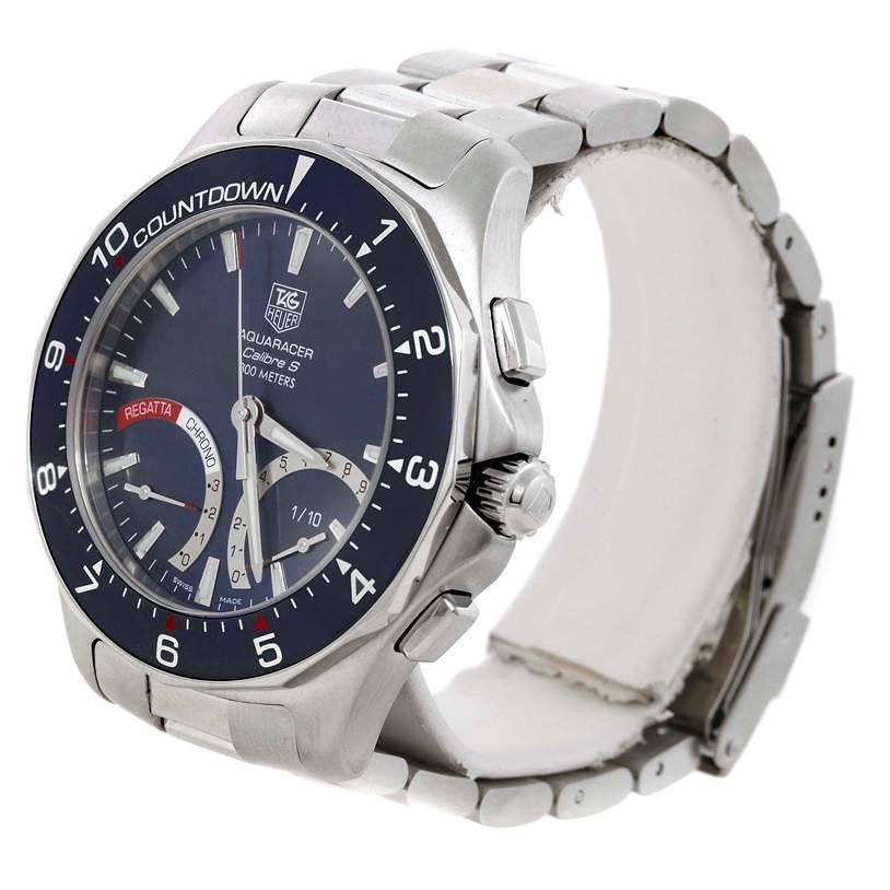 Tag Heuer Aquaracer Calibre S Regatta Chronograph Watch CAF7111.BA0803 SwissWatchExpo