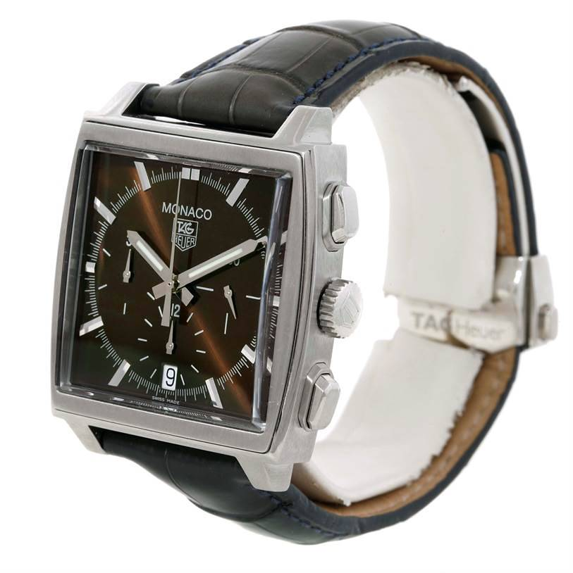 Tag Heuer Monaco Automatic Brown Dial Mens Watch CW2114 SwissWatchExpo