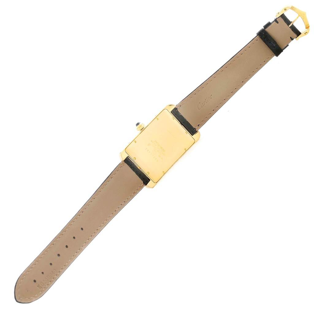 10391 Cartier Tank Americaine 18K Yellow Gold Mens Watch W2603156 SwissWatchExpo