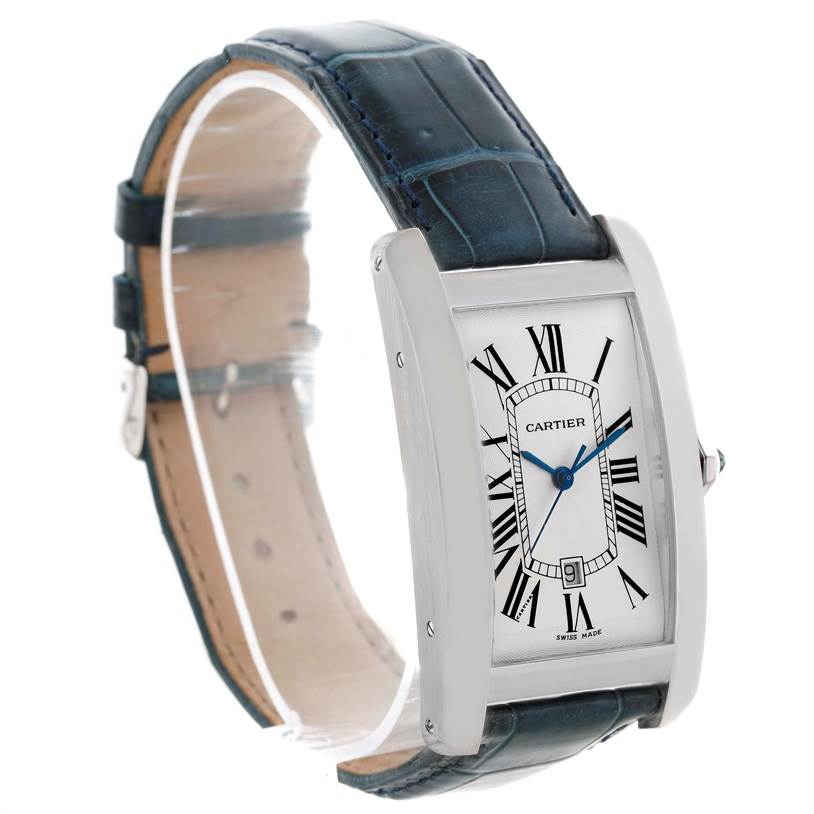 10667 Cartier Tank Americaine Large 18K White Gold Watch W2603256 SwissWatchExpo