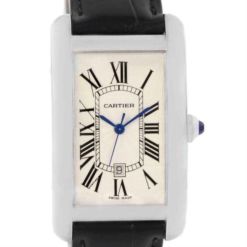 12812 Cartier Tank Americaine Large 18K White Gold Watch W2603256 SwissWatchExpo