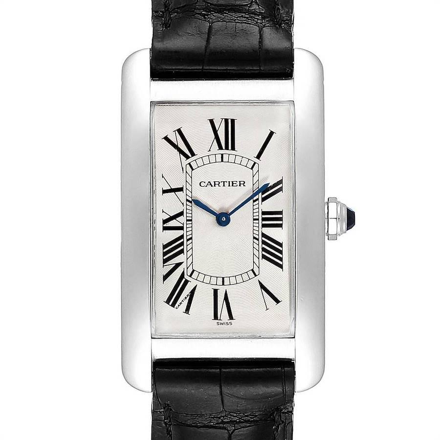 Cartier Tank Americaine XL Platinum Mechanical Mens Watch W2604351 SwissWatchExpo