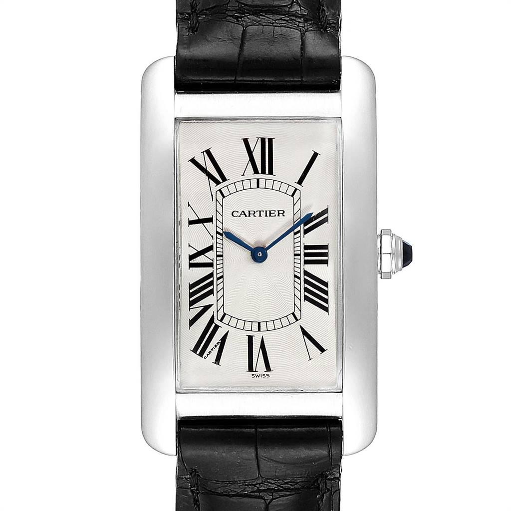 Cartier Tank Americaine XL Platinum Mechanical Mens Watch W2604351