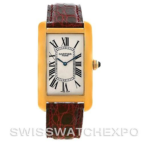 2982 Cartier Tank Americaine Mecanique 18K Yellow Gold LTD SwissWatchExpo