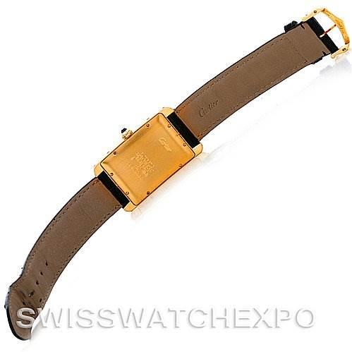 4150 Cartier Tank Americaine Large 18K Yellow Gold W2603156 Watch SwissWatchExpo