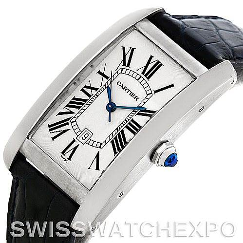 5771 Cartier Tank Americaine Large 18K White Gold W2603256 SwissWatchExpo