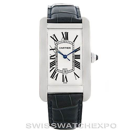 6549 Cartier Tank Americaine Large 18K White Gold Watch W2603256 SwissWatchExpo