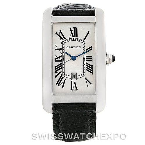 7001 Cartier Tank Americaine Large 18K White Gold Watch W2603256 SwissWatchExpo
