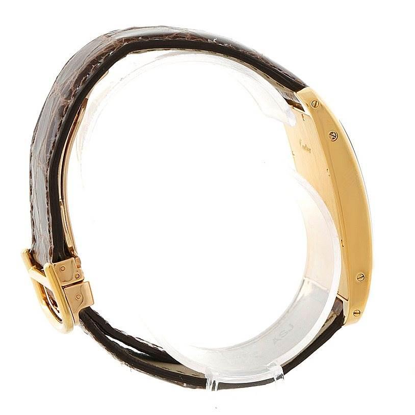 7495 Cartier Tank Americaine Chronograph 18K Yellow Gold Watch W2605856 SwissWatchExpo