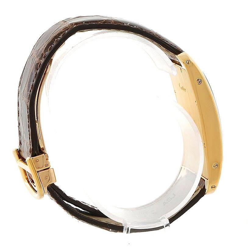 Cartier Tank Americaine Chronograph 18K Yellow Gold Watch W2605856 SwissWatchExpo