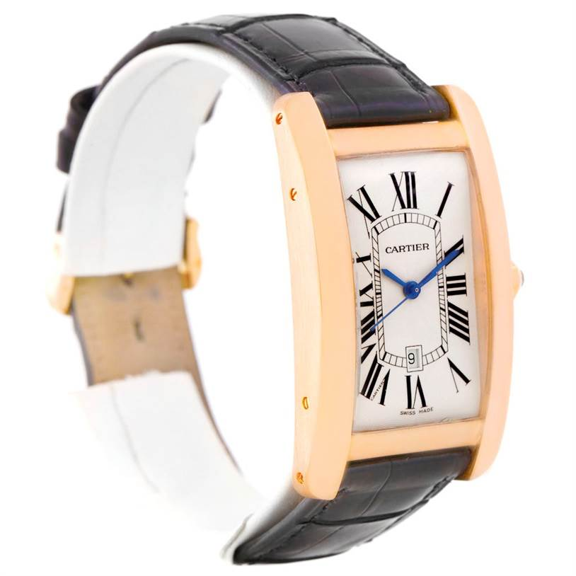 8152 Cartier Tank Americaine Large 18K Rose Gold Watch W2609156 SwissWatchExpo