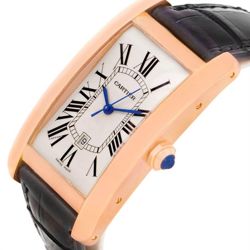 8152 Cartier Tank Americaine Large 18K Rose Gold Watch W2609156 SwissWatchExpo