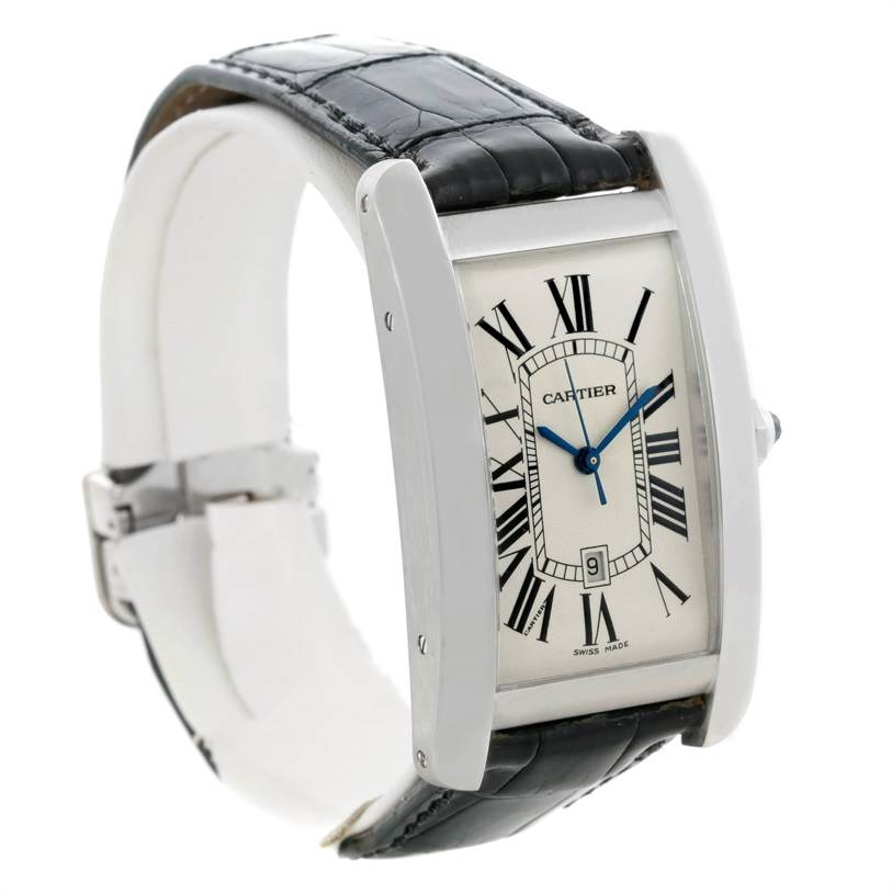 8701 Cartier Tank Americaine Large 18K White Gold Watch W2603256 SwissWatchExpo