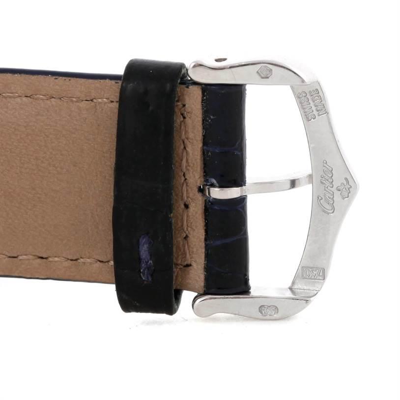 Cartier Tank Americaine Chronograph 18K White Gold Watch W2603356 SwissWatchExpo