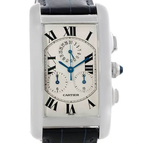Photo of Cartier Tank Americaine Chronograph 18K White Gold Watch W2603356