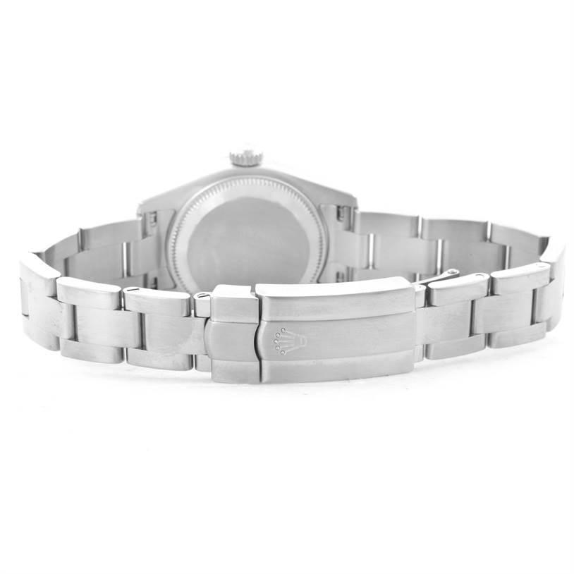 Rolex Nondate Ladies Salmon Dial Watch 176200 Box Papers SwissWatchExpo