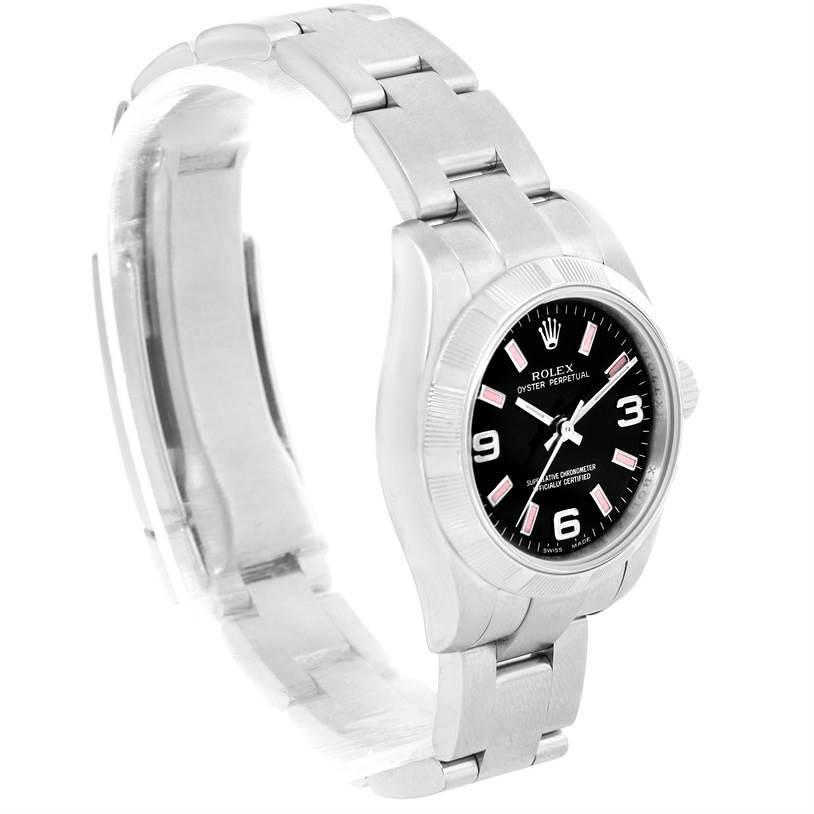 Rolex Nondate Ladies Black Dial Oyster Bracelet Watch 176210 SwissWatchExpo