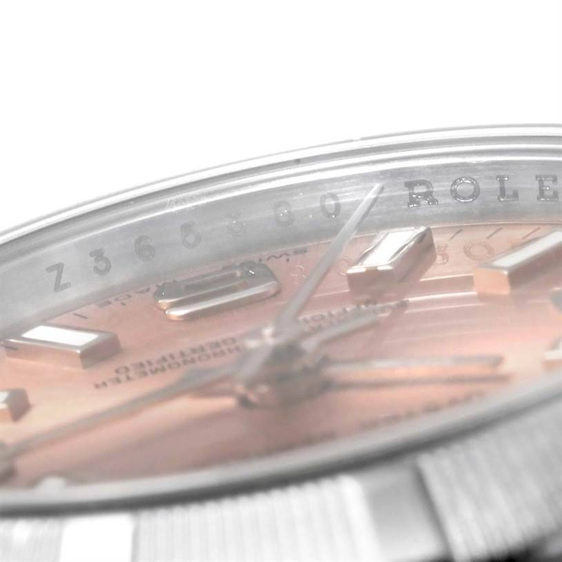 Rolex Nondate Ladies Salmon Dial Oyster Bracelet Watch 176200 SwissWatchExpo
