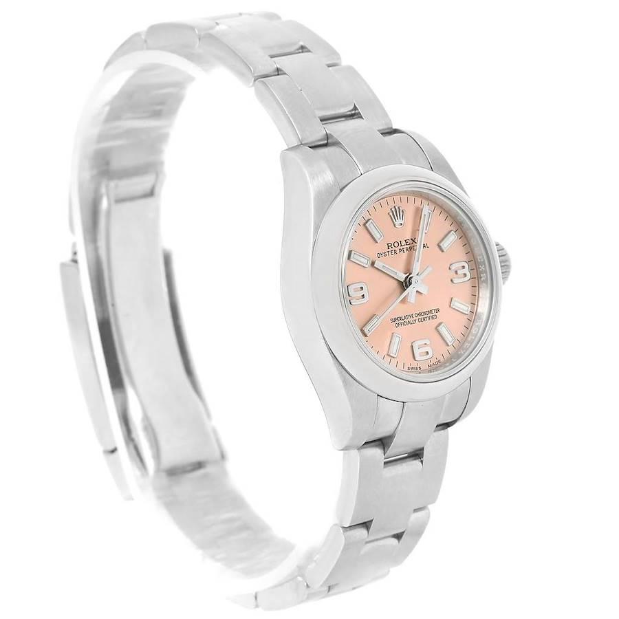 Rolex Nondate Ladies Salmon Dial Ladies Watch 176200 Box Papers SwissWatchExpo