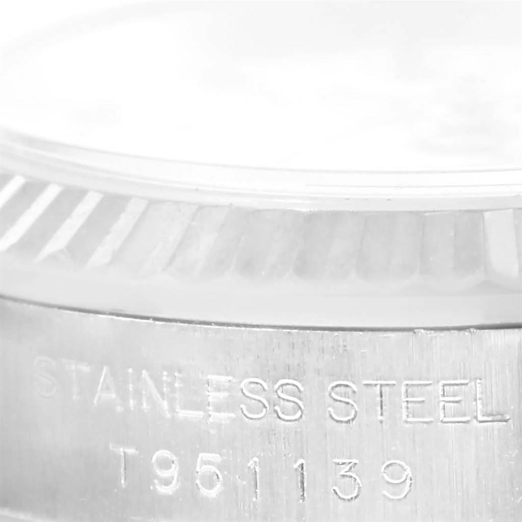Rolex NonDate Ladies Steel 18k White Gold Roman Dial Watch 67194 SwissWatchExpo