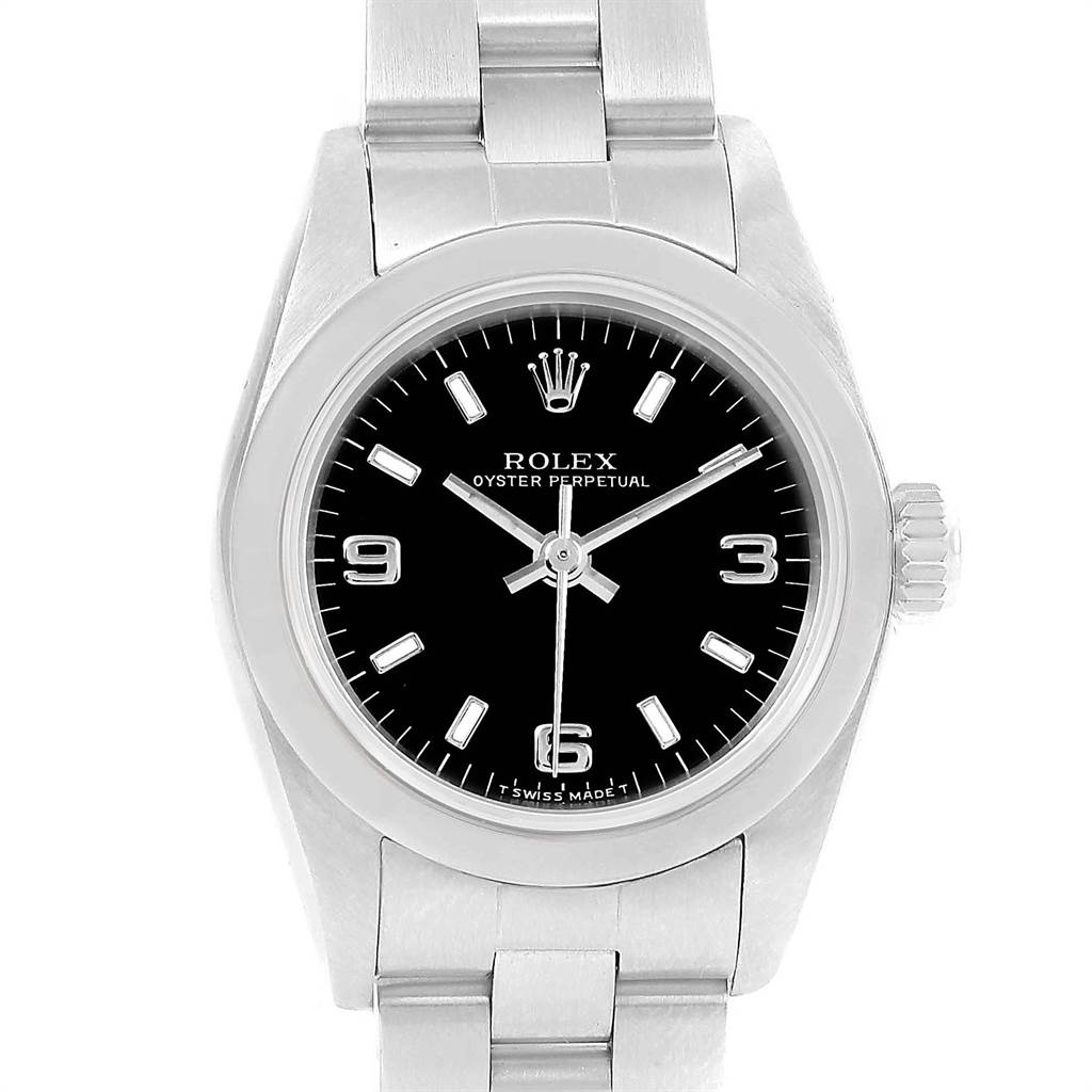 15341 Rolex Oyster Perpetual Nondate Ladies Steel Watch 67180 Box Papers SwissWatchExpo