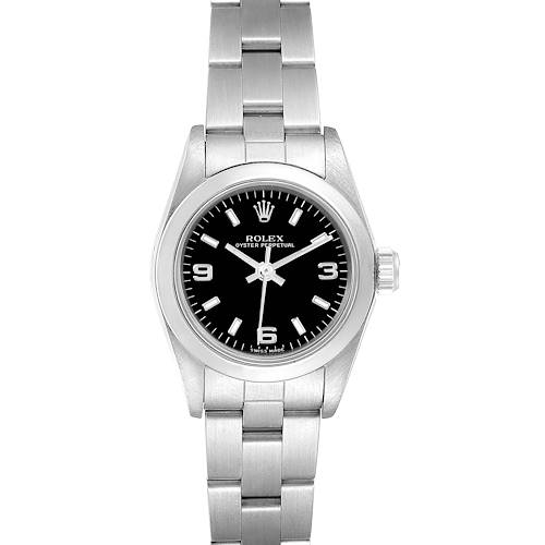 Photo of Rolex Oyster Perpetual 24 Nondate Black Dial Ladies Watch 76080