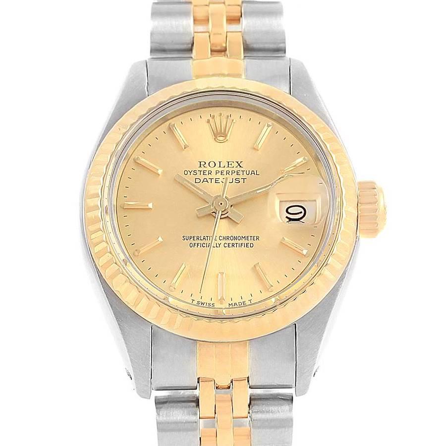 Rolex Datejust Steel Yellow Gold Jubilee Bracelet Ladies Watch 6917 SwissWatchExpo