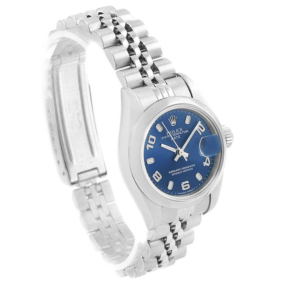 Rolex Date 26 Blue Dial Jubilee Bracelet Steel Ladies Watch 79160 SwissWatchExpo