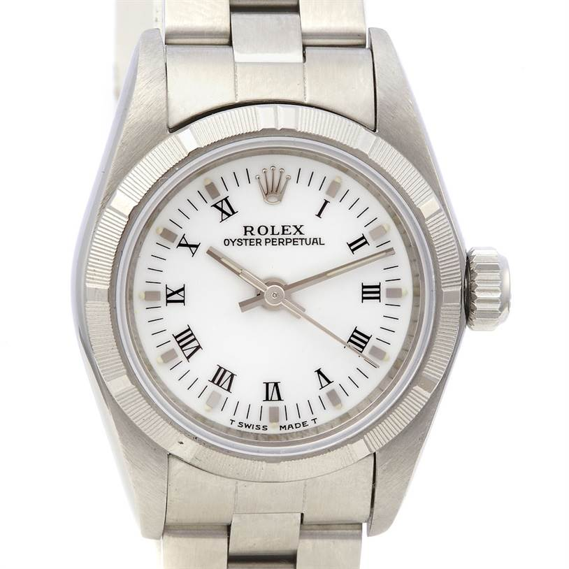2188 Rolex Oyster Perpetual Ladies Ss Watch 67230 SwissWatchExpo