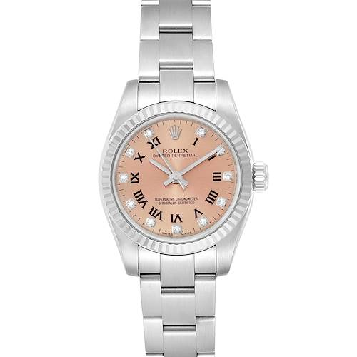 Photo of Rolex Oyster Perpetual 26 Steel White Gold Diamond Ladies Watch 176234