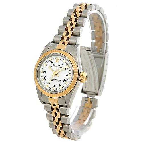 2436 Rolex Oyster Perpetual Ladies Ss 18k Yellow Gold 67193 SwissWatchExpo