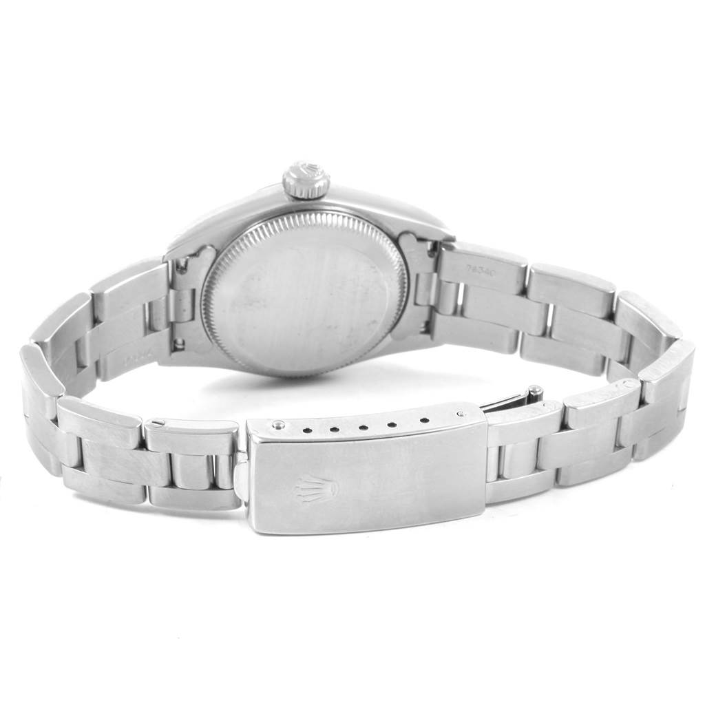 20925 Rolex Oyster Perpetual White Dial Oyster Bracelet Ladies Watch 67230 SwissWatchExpo
