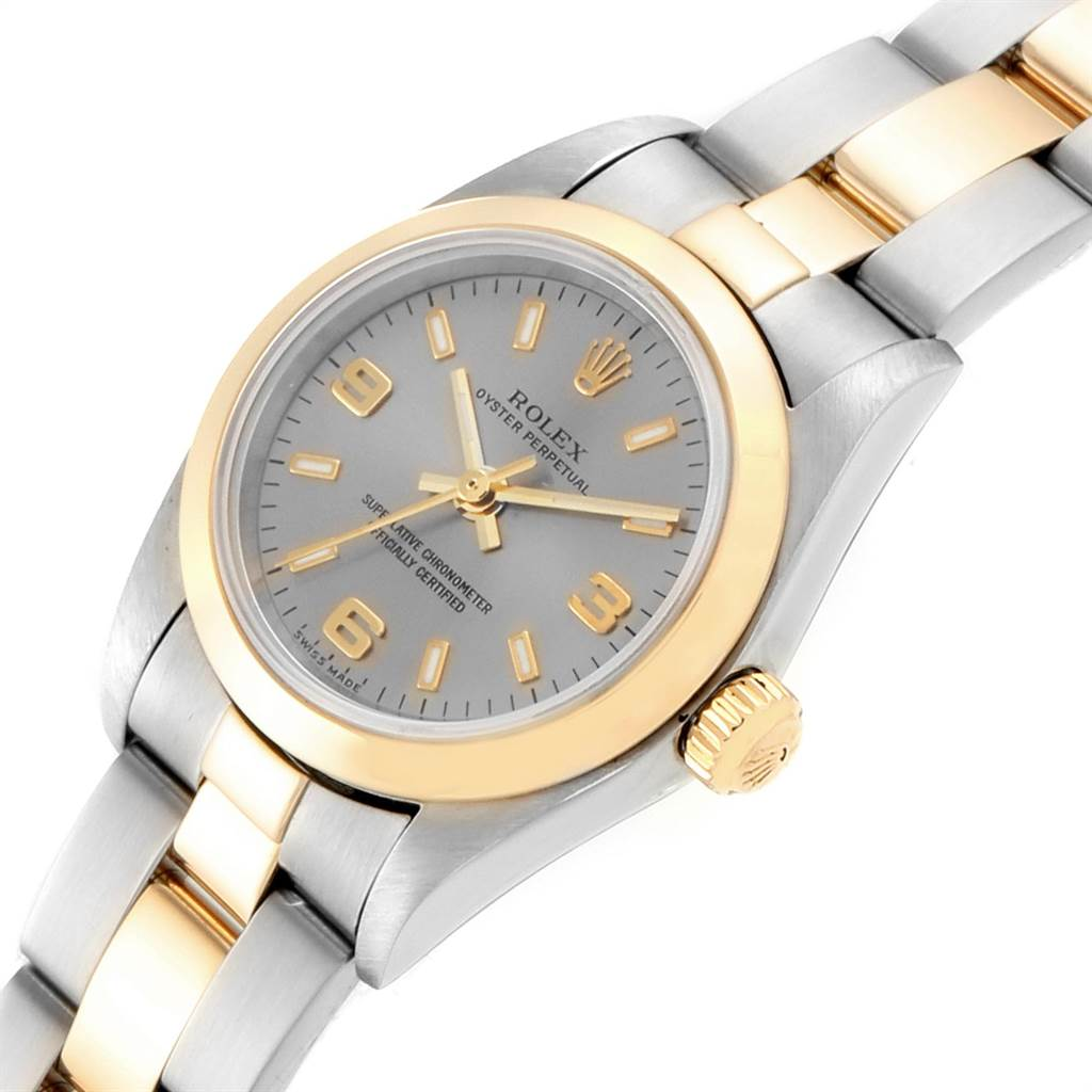 Rolex Oyster Perpetual Steel Yellow Gold Ladies Watch 76183 Box Papers SwissWatchExpo