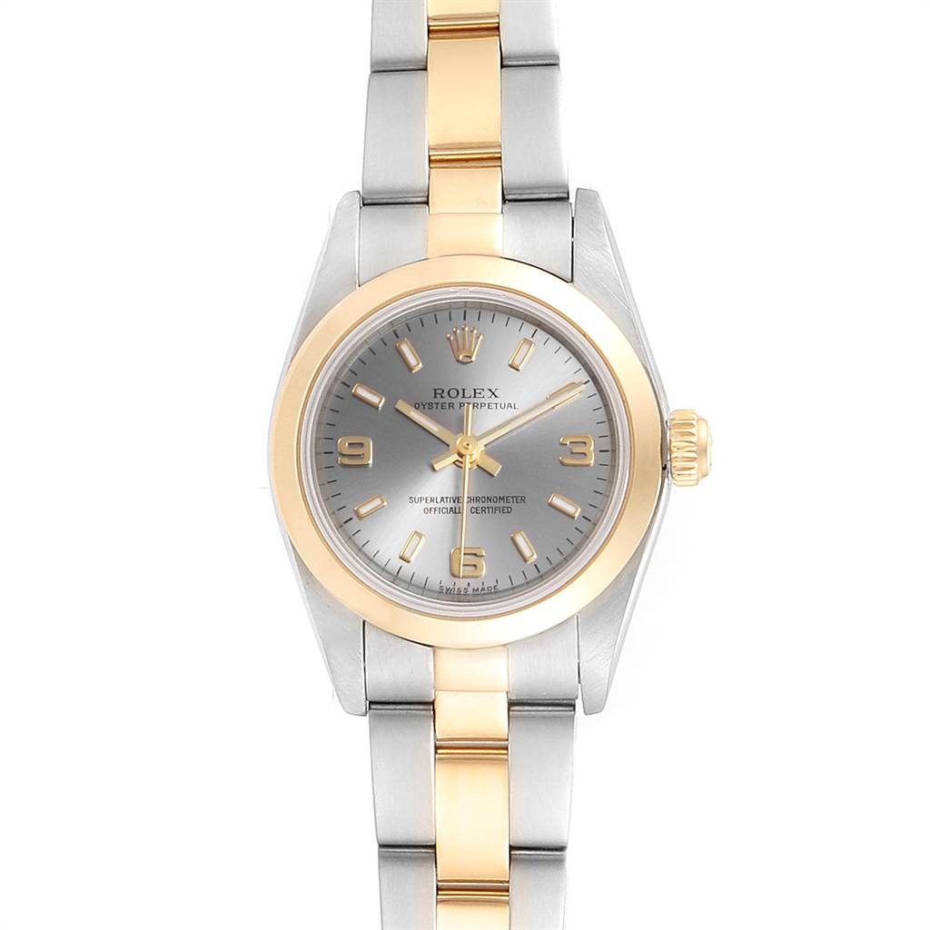 23527 Rolex Oyster Perpetual Steel Yellow Gold Ladies Watch 76183 Box Papers SwissWatchExpo