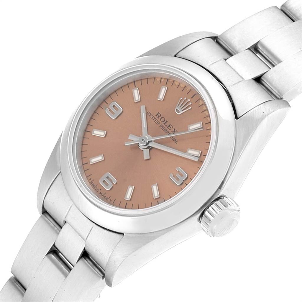 23040 Rolex Oyster Perpetual Nondate Steel Ladies Watch 67180 Box Papers SwissWatchExpo