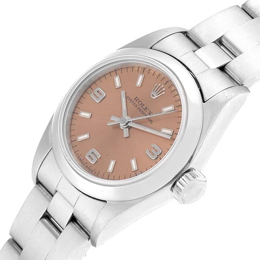Rolex Oyster Perpetual Nondate Steel Ladies Watch 67180 Box Papers SwissWatchExpo