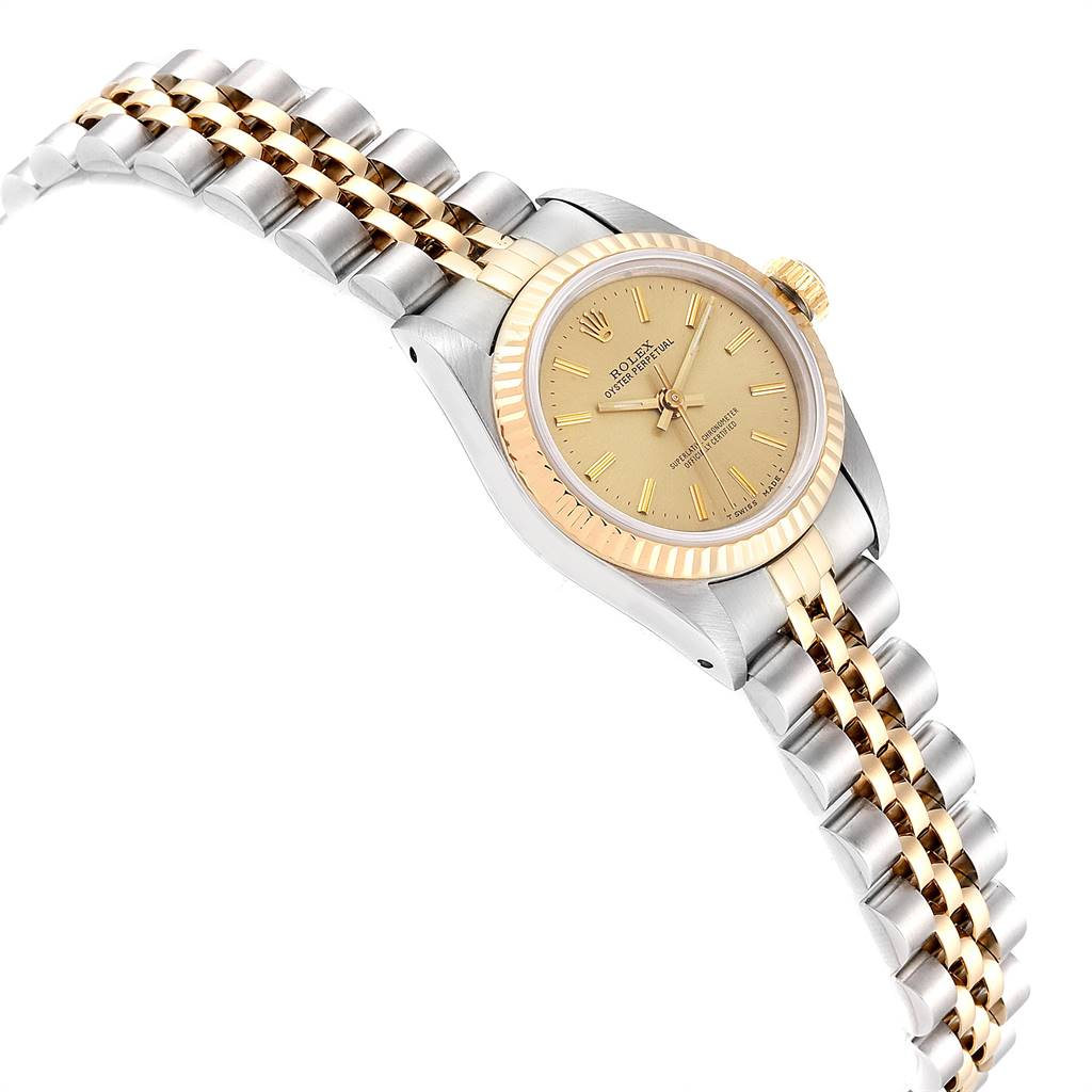 24127 Rolex Oyster Perpetual Steel Yellow Gold Ladies Watch 67193 SwissWatchExpo