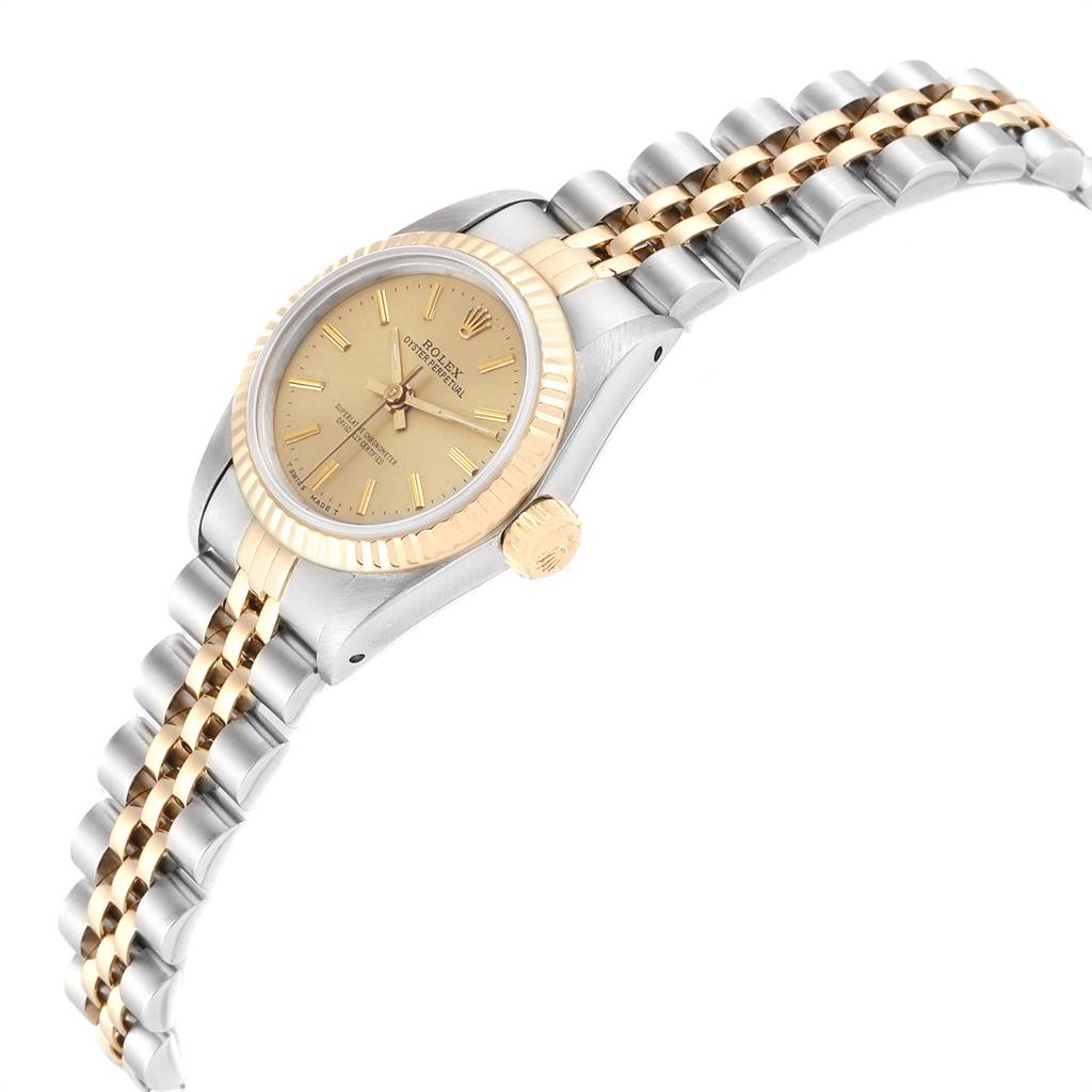 Rolex Oyster Perpetual Steel Yellow Gold Ladies Watch 67193 SwissWatchExpo