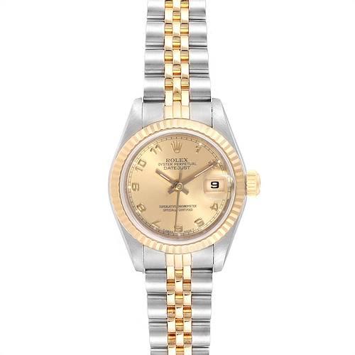 Photo of Rolex Datejust Steel Yellow Gold Arabic Numerals Ladies Watch 69173