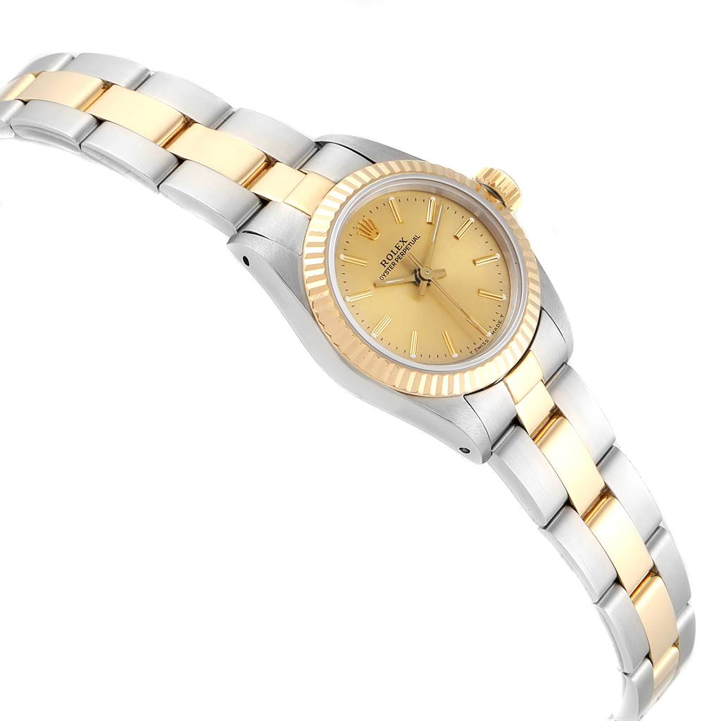 24534 Rolex Oyster Perpetual NonDate Steel Yellow Gold Ladies Watch 67193 SwissWatchExpo