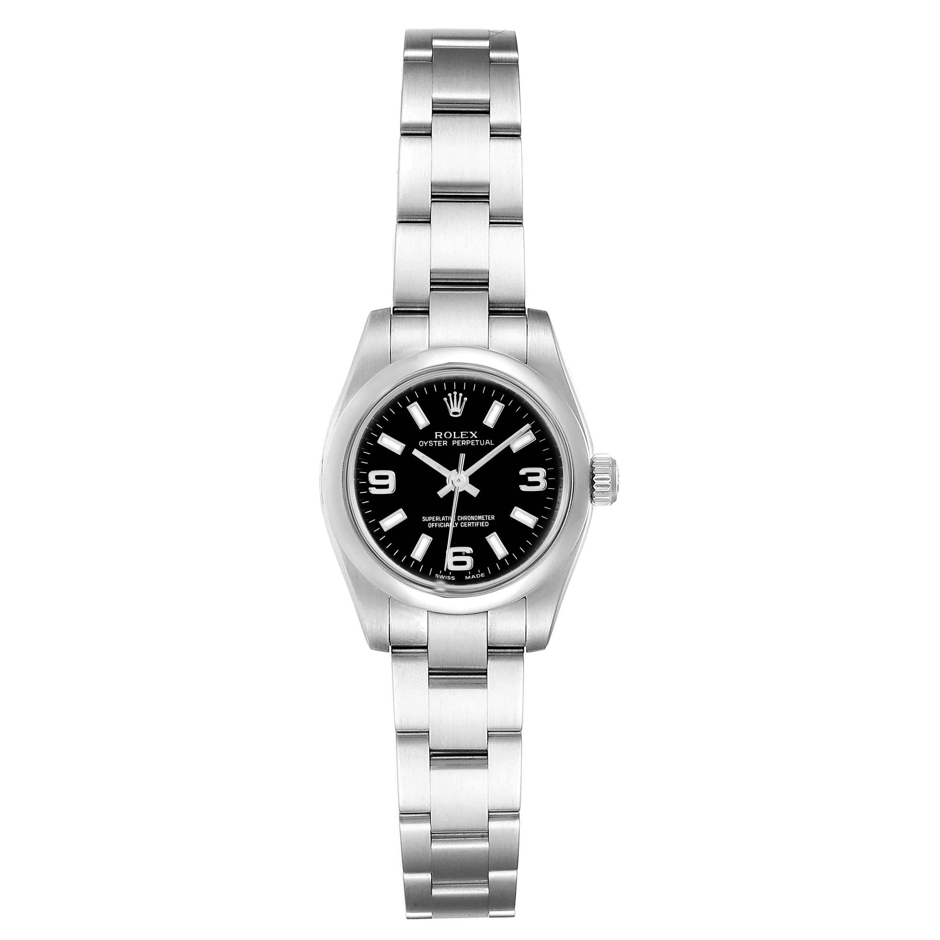 Rolex Oyster Perpetual Nondate Oyster Bracelet Ladies Watch 176200 SwissWatchExpo