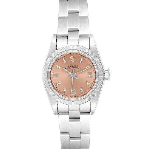 Photo of Rolex Oyster Perpetual Salmon Dial Oyster Bracelet Ladies Watch 67230