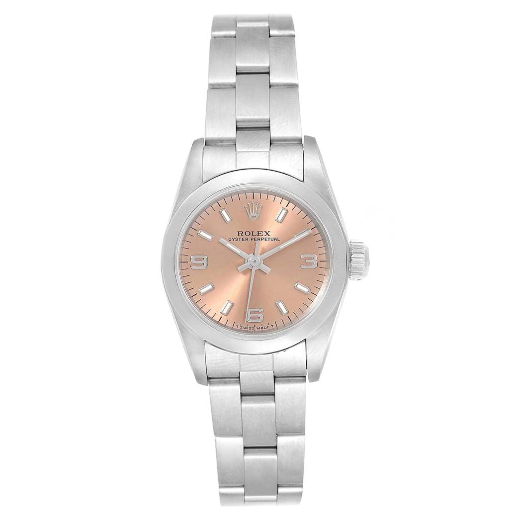 24939 Rolex Oyster Perpetual Nondate Steel Ladies Watch 67180 Box Papers SwissWatchExpo