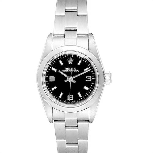 Photo of Rolex Non-Date Black Dial Automatic Steel Ladies Watch 76080