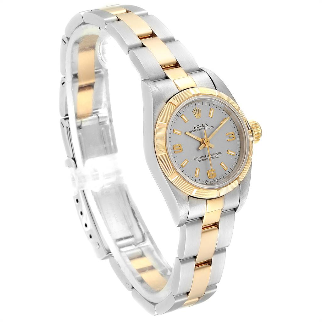 25716 Rolex Oyster Perpetual NonDate Steel Yellow Gold Ladies Watch 67233 SwissWatchExpo