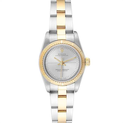 Photo of Rolex Oyster Perpetual Steel Yellow Gold Ladies Watch 76243 Box Papers