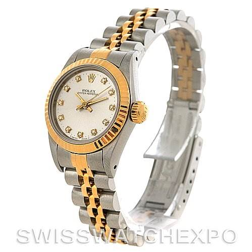 2726 Rolex Oyster Perpetual Ladies Ss 18k Yellow Gold 67193 SwissWatchExpo
