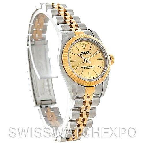Rolex Non-Date Ladies Steel 18k Yellow Gold 76193 Watch SwissWatchExpo